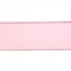 Лента репсовая 25 мм с люрексом (уп. 22,5 м) 37 св.роз/серебро