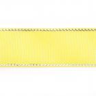 Лента репсовая 25 мм с люрексом (уп. 22,5 м) 23 желтый/серебро