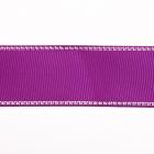 Лента репсовая 25 мм с люрексом (уп. 22,5 м) 85 фиолет./серебро