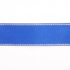 Лента репсовая 25 мм с люрексом (уп. 22,5 м)170 василек/серебро