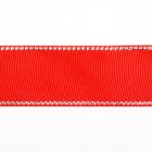 Лента репсовая 25 мм с люрексом (уп. 22,5 м) 57 красный/серебро