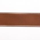 Лента репсовая 25 мм с люрексом (уп. 22,5 м)140 корич./серебро