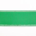Лента репсовая 25 мм с люрексом (уп. 22,5 м)120 зеленый/серебро