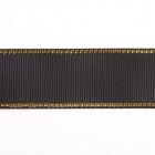 Лента репсовая 25 мм с люрексом (уп. 22,5 м)176 чер./золото