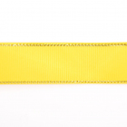 Лента репсовая 25 мм с люрексом (уп. 22,5 м) 24 яр.желтый/золото