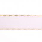 Лента репсовая 25 мм с люрексом (уп. 22,5 м) 01 белый/золото