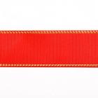 Лента репсовая 25 мм с люрексом (уп. 22,5 м) 57 красный/золото