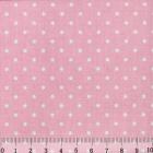 Ткань 48*50 см 120 г/м2 «Мелкий горошек» 100% хлопок 25735 розовый 541889