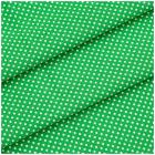 Ткань 48*50 см 120 г/м2 «Мелкий горошек» 100% хлопок 25742 зеленый 541884