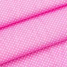 Ткань 50*70 см 23565 100% п/э в мелк.горошек св.розовый 915-1 501280