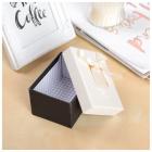 Коробка подарочная «Узор» 11*7 см бежевый/черный 1021710