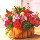 Алмазная мозаика NEW WORLD SW2143 «Корзина цветов» 25*25 см