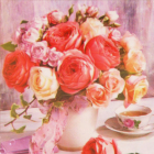 Алмазная мозаика NEW WORLD SW2114 «Букет роз» 25*25 см
