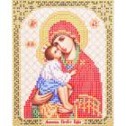 Ткань для вышивания бисером Благовест И-5055 Пр. Богородица Донская 13,5*17 см