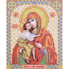 Ткань для вышивания бисером Благовест И-5054 Пр. Богородица Феодоровская 13,5*17 см