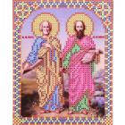 Ткань для вышивания бисером Благовест И-5085 Святые Петр и Павел 13,5*17