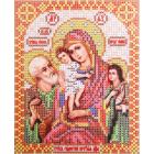 Ткань для вышивания бисером Благовест И-5038 ПБ Трех радостей 13*17 см