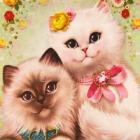 Алмазная мозаика NEW WORLD SW2117 «Коты-молодожёны» 25*25 см