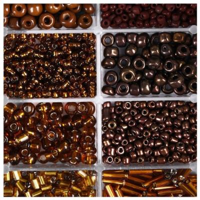 Набор бисера + леска 4645720 коричневый в интернет-магазине Швейпрофи.рф