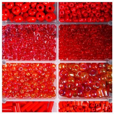 Набор бисера + леска 4645721 красный в интернет-магазине Швейпрофи.рф