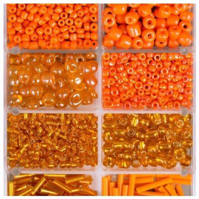 Набор бисера + леска 4645723 оранжевый в интернет-магазине Швейпрофи.рф