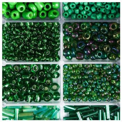 Набор бисера + леска 4645724 зеленый в интернет-магазине Швейпрофи.рф