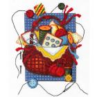 Набор для вышивания Нитекс 0169 «Корзинка рукодельницы» 19*25 см