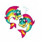 Набор для вышивания Нитекс 2149 «Веселые рыбы» 22*22 см