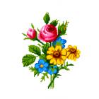 Набор для вышивания Нитекс 2152 «Букет с шиповником» 22*32 см