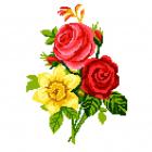 Набор для вышивания Нитекс 2156 «Букет с розами» 22*32 см
