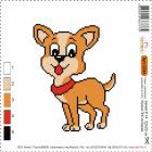 Набор для вышивания Нитекс 2244 «Собачка» 22*22 см