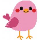 Набор для вышивания Нитекс 2299 «Розовая птичка» 22*22 см