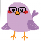 Набор для вышивания Нитекс 2300 «Сиреневая птичка» 22*22 см