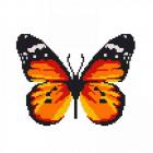 Набор для вышивания Нитекс 2318 «Бабочка Адмирал» 22*22 см