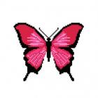 Набор для вышивания Нитекс 2396 «Розовая бабочка» 22*22 см
