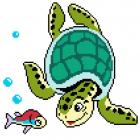Набор для вышивания Нитекс 2438 «Морская черепаха» 22*25 см