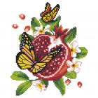 Набор для вышивания Нитекс 2460 «Цветущий гранат» 22*25 см