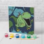 Картина по номерам Арт Узор 4719043 «Динозавр в джунглях» 15*15 см