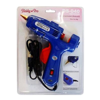 Клеевой пистолет DS-040 премиум большой с выключателем 7707497, 7722579 16*19 см в интернет-магазине Швейпрофи.рф