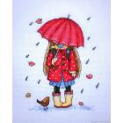 Набор для вышивания М.П.Студия М-142 «Осення прогулка» 15*18 см