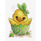 Набор для вышивания М.П.Студия М-229 «Пасхальный цыпленок» 13*18 см