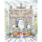 Набор для вышивания М.П.Студия М-520 «Триумфальная арка» 18*22 см