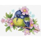 Набор для вышивания М.П.Студия М-554 «Романтичная пташка» 13*17 см