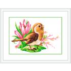 Рисунок на канве М.П. Студия СК-038 «Птичка певчая» 21*30 см