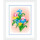 Рисунок на канве М.П. Студия СК-039 «Свежие ирисы» 21*30 см