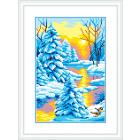 Рисунок на канве М.П. Студия СК-044 «Зимний закат» 21*30 см