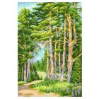 Рисунок на канве М.П. Студия СК-069 «На лесной тропинке» 30*40 см