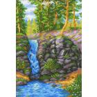 Рисунок на канве М.П. Студия СК-078 «Лесной водопад» 30*40 см