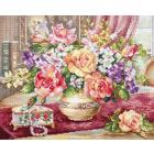 Набор для вышивания Алиса 2-50 «Розы в гостиной» 33*39 см