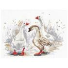 Набор для вышивания Овен №1084 «Три веселых гуся» 19*27 см